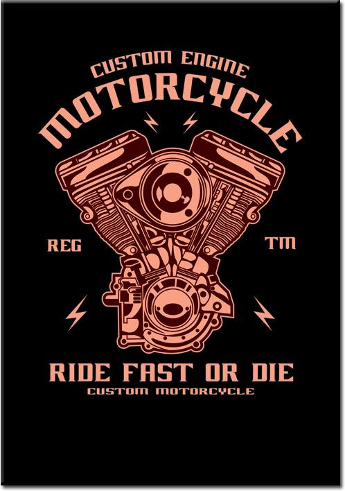plakat z motoryzacją