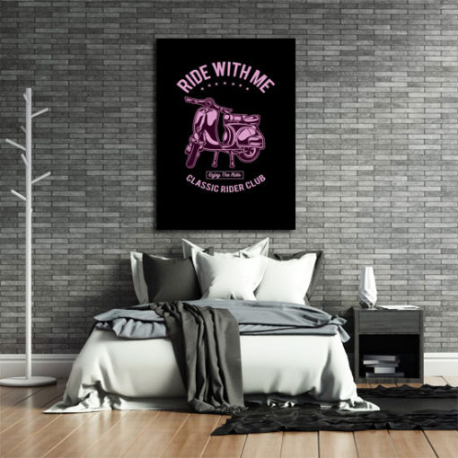 plakaty ze skuterami
