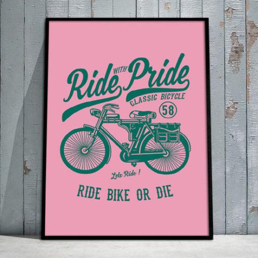 plakaty z rowerami