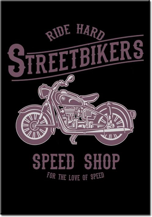 plakaty z motocyklami