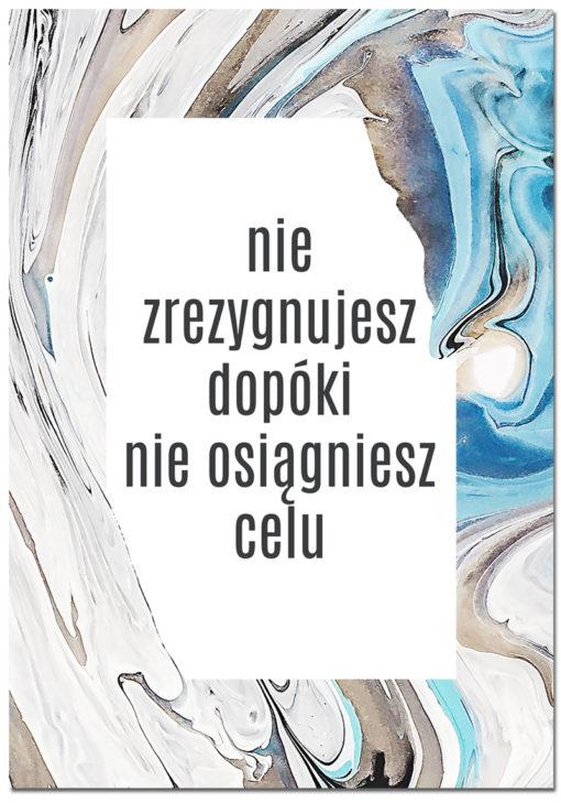 plakaty z motto życiowym