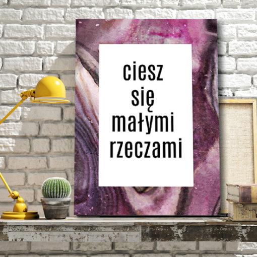 plakaty z typografią
