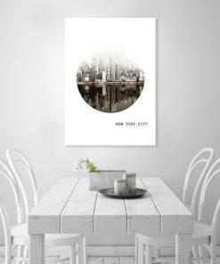 ozdoby z panoramą miasta