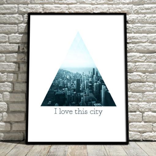 plakaty z panoramą miasta