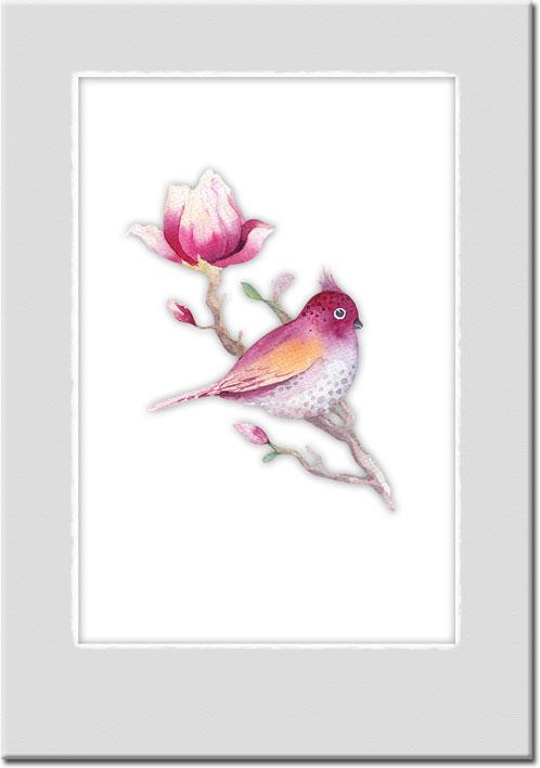 plakaty z ptaszkami