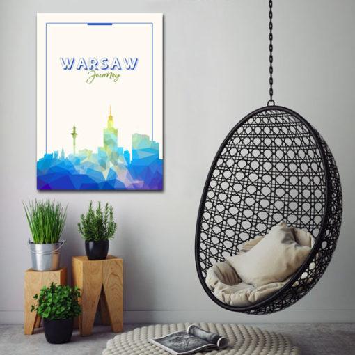 plakaty z warszawą