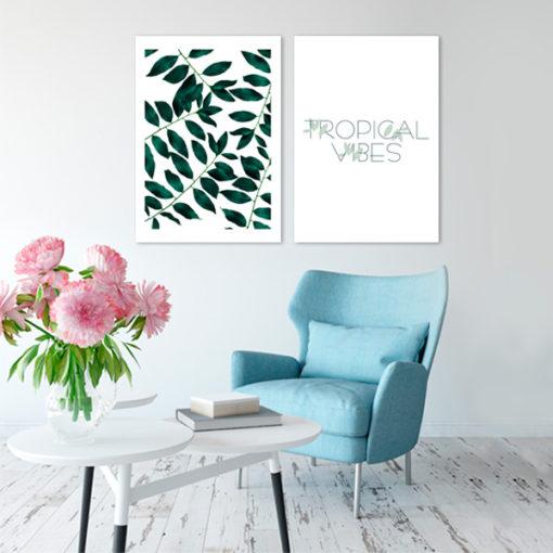 plakaty podwójne z roślinami