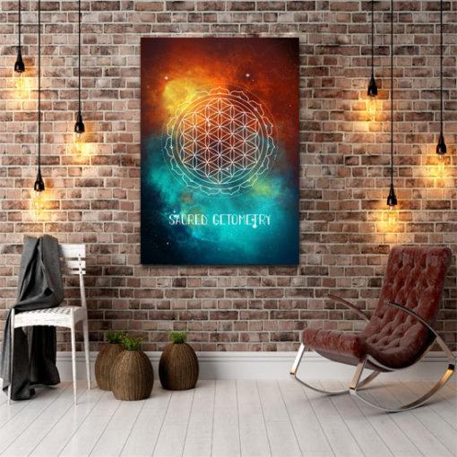 plakat z galaktycznym niebem