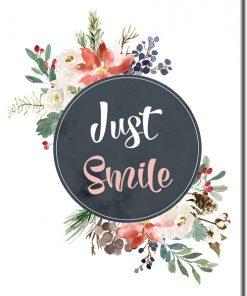 plakat uśmiechaj się