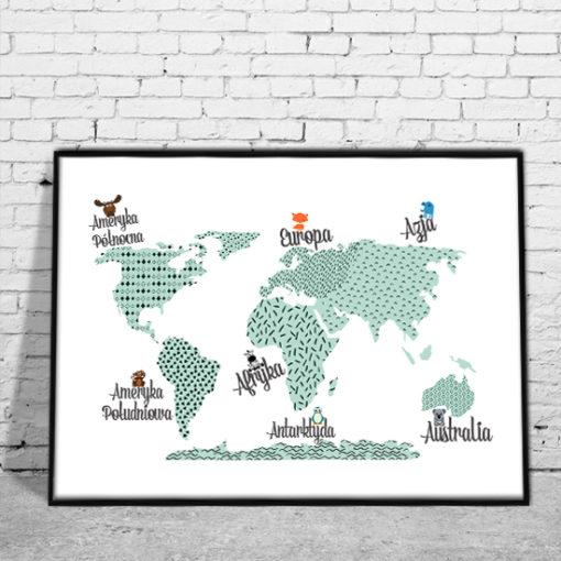 dekoracje z mapami