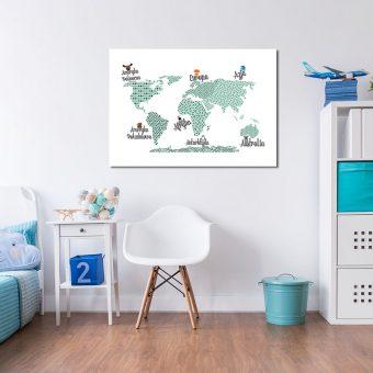 plakat z mapą