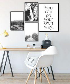czarno-białe plakaty do biura