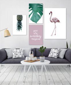 plakaty tropikalne do salonu