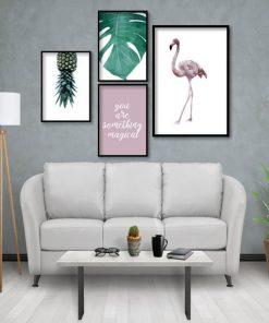 plakaty w tropikalnym zestawie na ścianę