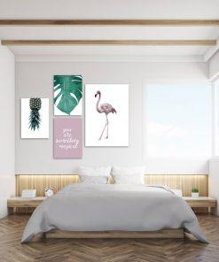 komplet plakatów do sypialni