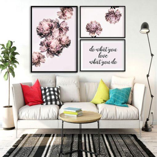 kwiatowe plakaty do salonu