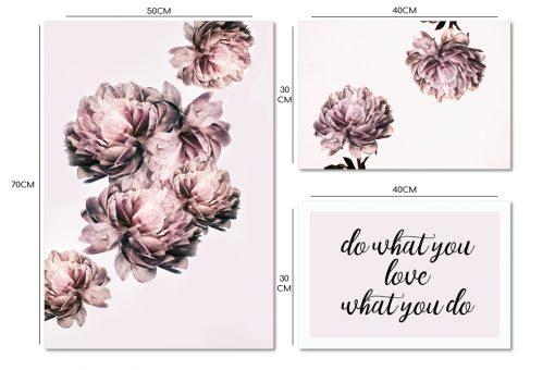 zestaw plakatów z kwiatami