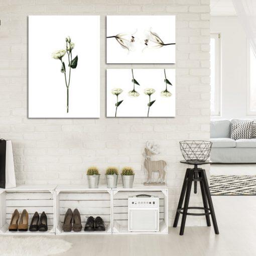 kwiatowy zestaw plakatów do przedpokoju