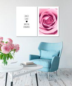 dyptyk z różą
