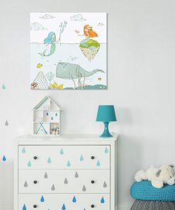 Plakat dziecięcy z podwodnym światem