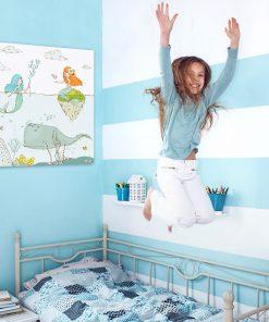 Kwadratowy plakat do pokoju dziewczynki