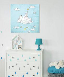Plakat kwadratowy do pokoju dziecięcego