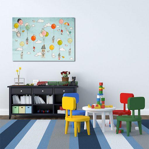 Plakat niebieski do pokoju dziecka
