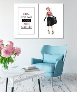 plakaty o makijażu