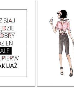 Plakat dyptyk w stylu glamour