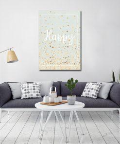 Niebieskawy plakat do dekoracji salonu