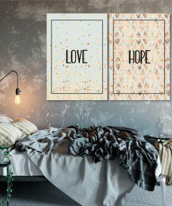 Zestaw dwóch plakatów do sypialni