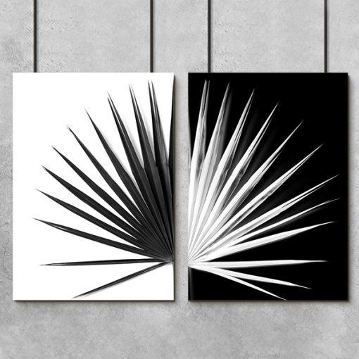 Plakat podwójny z motywem liścia palmy