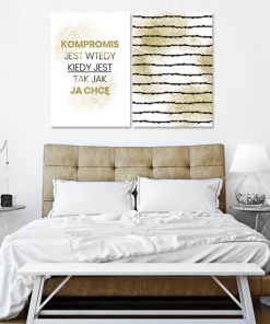Plakat dyptyk do sypialni