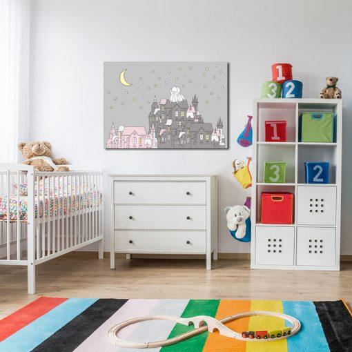 Plakat z króliczkami do pokoju dziecięcego