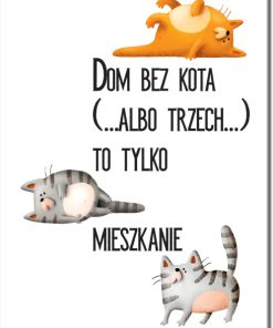 Plakat dla fana kotów