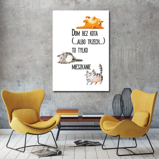 Plakat do dekoracji salonu