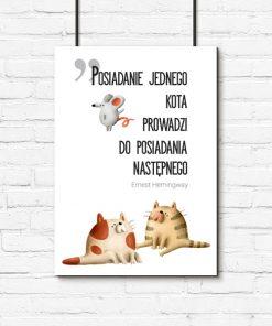 Plakat z cytatem Ernesta Hemingwaya