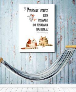 Typograficzny plakat do salonu