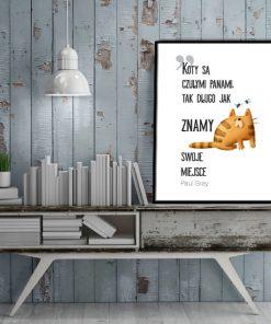 Plakat z kotami do salonu