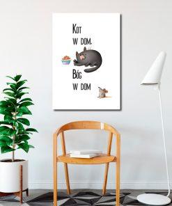 Plakat z kotem do salonu
