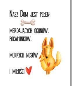 Plakat typograficzny z motywem psa