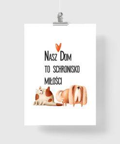 Plakat z cytatem o psach