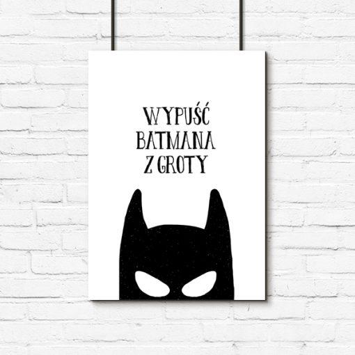 Plakat typograficzny z batmanem