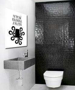 Plakat typograficzny do toalety