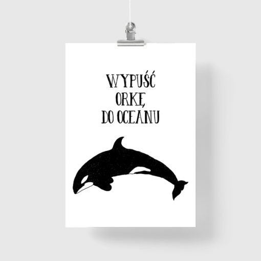 Plakat z motywem orki