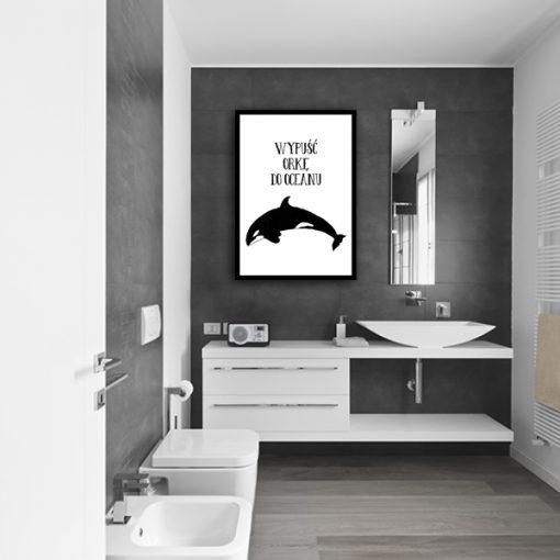 Plakat do dekoracji łazienki