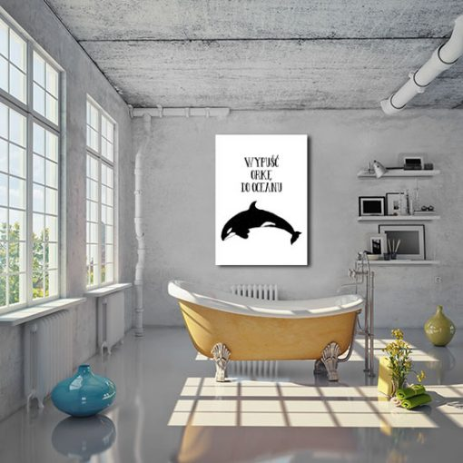 Plakat do ozdoby toalety