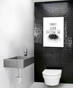 Plakat do dekoracji toalety