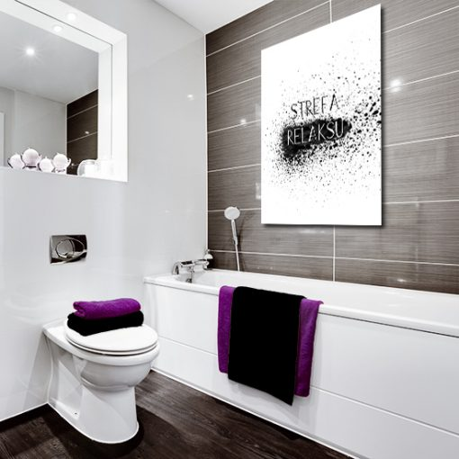 Plakat z motywem napisu do toalety
