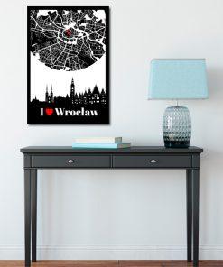 Plakat z Wrocławiem do przedpokoju
